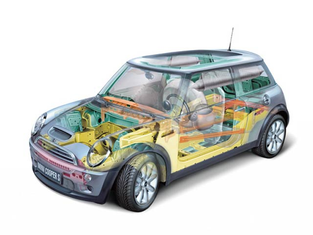 2006 Mini Cooper Side View Safety Structure Body structure Extrication